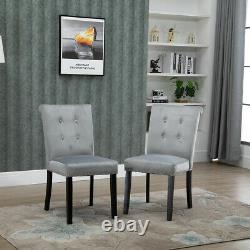1/2/4/6x Velvet Dining Chairs Knocker Ring Back Kitchen Office Chair Upholstered