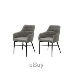 2/4/6x Upholstered Dining Chairs Eiffel Fabric Seat Lounge Office Chair Accent