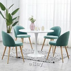 2 4 Green Velvet Fabric Dining Chairs Upholstered Accent Dressing Chair Bedroom