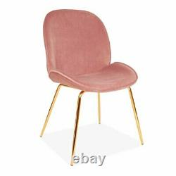 2 x Fairmont Park Wintershoven Upholstered Dining Chairs Pink RRP £185