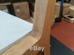 2 x Habitat RADIUS Solid Oak Dining Chair Upholstered Seat 27428 RRP£390 GD252-3