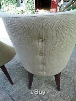 2 x Laura Ashley Home Upholstered Dining Occasional Bedroom Chairs