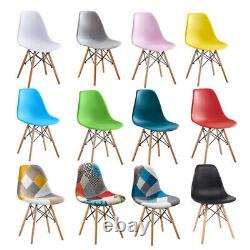 4Pcs Retro Style Lounge Office Chair Dining Chairs Wooden Leg Kitchen Commercial