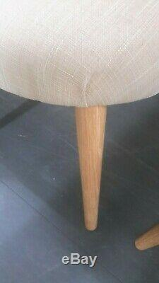 4 Bentley designs oslo oak fabric upholstered dining chairs