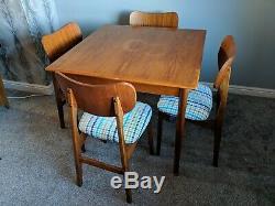 4 X Retro Upholstered Dining Room Chairs Swedish / Danish / Scandinavian