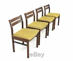 4 X Vintage Teak Danish Influence Dining Chairs (Re Upholstered)