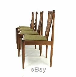 4 X Vintage Teak Danish Influence Dining Chairs by Meredew. (Re Upholstered)