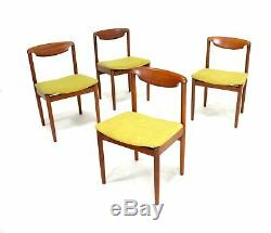 4 X Vintage Teak Meredew Danish Influence Dining Chairs(Re Upholstered)