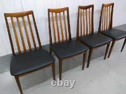 4 x G Plan Fresco Teak Dining Chairs Refurbished & Re-upholstered (8 available)