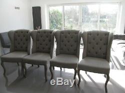 4 x St Emilion french upholstered dining chairs