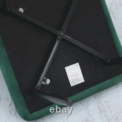 4x Emerald Green Velvet Dining Chairs Button Upholstered Padded Seat Metal Legs