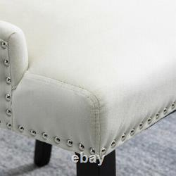 4x Knocker Dining Chairs Accent Button Tufted Upholstered Studded Velvet Chair