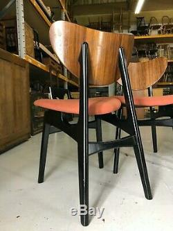 4x NEWLY UPHOLSTERED G Plan Butterfly Dining Chairs Mid Century 60s 70s