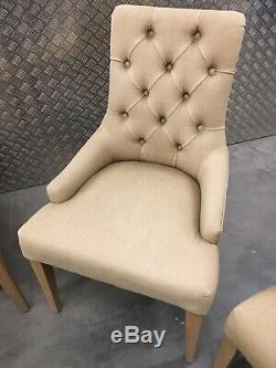 4x Neptune Henley Upholstered Kitchen Dining Room Chairs Furniture Sutton