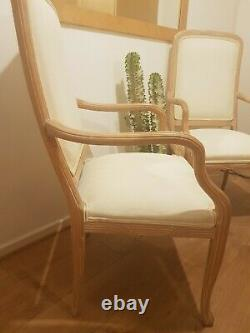 6 Dining Chairs Incl 2 Carver Limed Wood Barker & Stonehouse