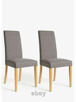 6 Grey John Lewis Lydia Grey Upholstered and Beech Wood Dining Chairs