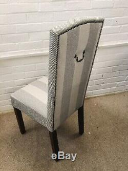 6 Laura Ashley Dining Chairs newly upholstered In Classic Design