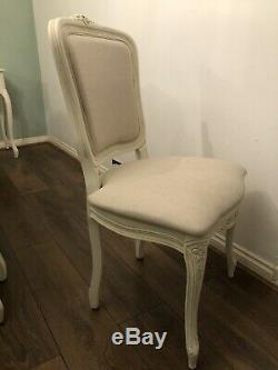 6 Laura Ashley Provencale Ivory Upholstered Dining Chairs