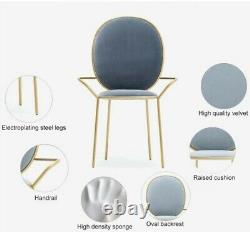 6 Le Rond, Made. Com style green upholstered velvet dining chairs