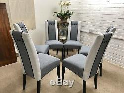 6 Next Dining Chairs Newly Upholstered In Modern Design
