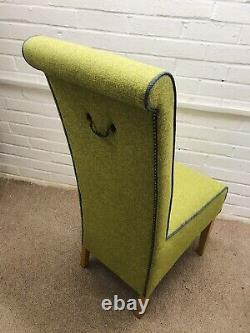 6 Next Dining Chairs newly Upholstered In Multicoloured Water clean Fabric