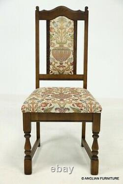 6 Wood Bros Old Charm Dining Chairs In Light Oak Venetia Fabric FREE UK Delivery