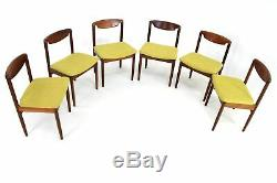 6 x Vintage teak danish influence dining chairs(re-upholstered)