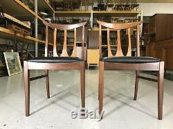 6x NEWLY UPHOLSTERED G Plan Mid Century Dining Chairs Black Vinyl 60s 70s