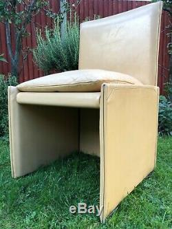 70s Retro Ten Upholstered BREAK Dining Chairs By Mario Bellini for Cassina eames