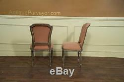 8 Casual Upholstered Dining Chair with Peach Pastel Fabric, Set of 8 side chairs