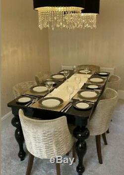 8 John Lewis Harlequin Arkona Velvet upholstered dining chairs