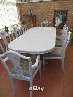 8 Seater Dining Table And Upholstered Chairs