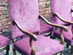 8 Upholstered French Dining Chairs