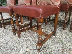8 x Dining Chair Upholstered Tetrad Eastwood Fabric & Leather FREE DELIVERY