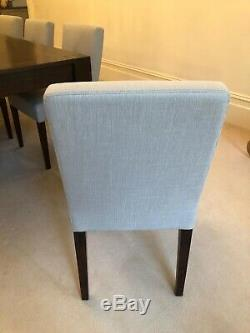 8x Beautiful Neutral Upholstered Dining Chairs. Excellent. Collection ONLY in W14