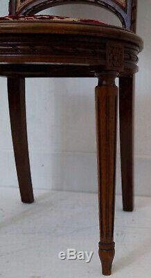 A Rare Set of 8 French Louis XVI Upholstered Dining Chairs Reupholstery Option