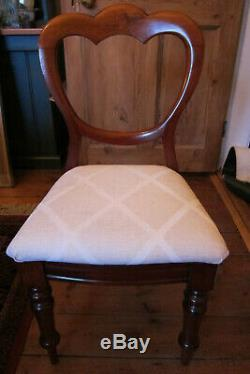 A lovely Set of 6 Victorian upholstered Dining Chairs collection only (York)