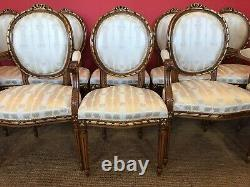 Amazing dining chairs 6, 8,10,12,14,16,18 to French polished and Upholstered