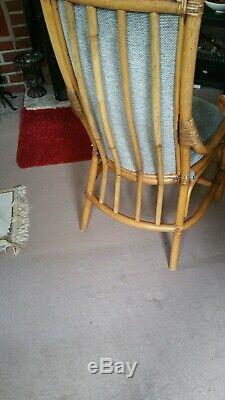 Angraves dining room/conservatory oak table and 8 high back upholstered chairs