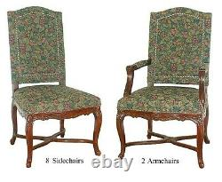 Antique Dining Upholstered Chairs, set of 10 American 1930 #5425