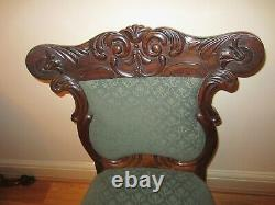 Antique Upholstered Dining Chairs, Set of Four Victorian/Edwardian