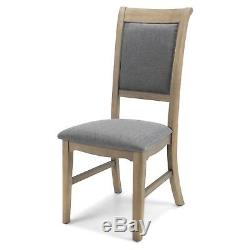 Aston Oak Furniture Grey Set of Four Upholstered Dining Room Chairs