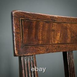 Attractive Set of Six Antique Georgian Mahogany Dining Chairs, Newly Upholstered