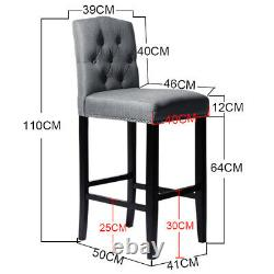 Bar Stool Wooden High Legs Breakfast Bar Seat Chairs Kitchen Dining Furniture UK