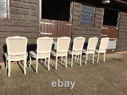 Beautiful Set Of 6 Laura Ashley French Style Upholstered Dining Chairs