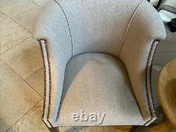 Beautiful Velvet Upholstered Dining Chairs / Occasional Chairs Pair