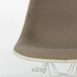 Beige Hopsack Herman Miller Vintage Original Eames Upholstered DSR Side Chair