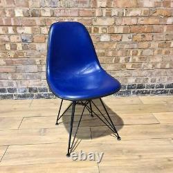 Blue Herman Miller Vintage Original Eames Upholstered DSR Side Shell