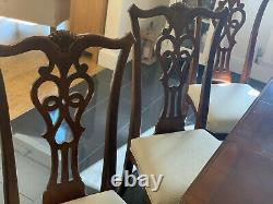 Brighton Hall Dining Table and 6 upholstered chairs