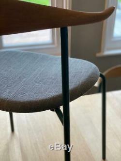 Carl Hansen Dining Desk Chair Ch88 Upholstered Seat Designer Furniture